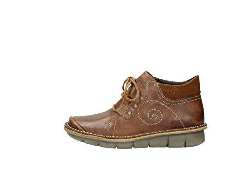 Leather schnuerschuhe Cognac 50430 Wolky Oiled nbsp;Gallo 8384 Yxqn1C