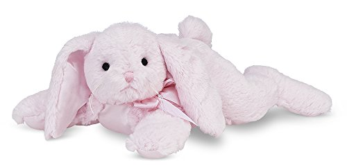Bearington Baby Cottontail Plush Stuffed Animal Pink Bunny with Rattle, 8 inches ()