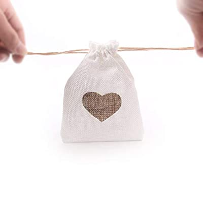 Junxia Burlap Bags with Drawstring Gift Bags for Wedding Party,Arts & Crafts Projects, Presents, Snacks & Jewelry,Christmas Pack of 10 from Xingyu Technology INC