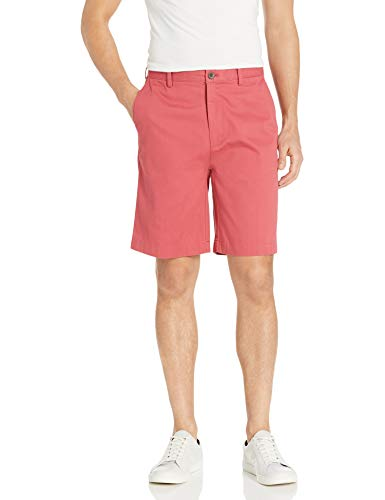 Amazon Essentials Men's Classic-Fit 9 Short, Washed Red, 32