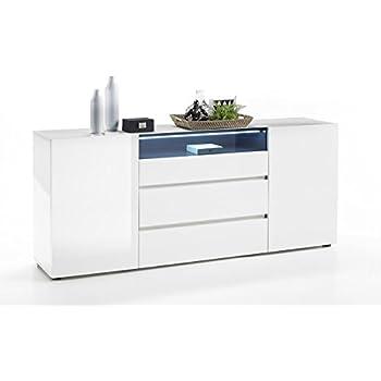 VICENZA Collection SIDEBOARD U2013 Italian Design 2 Door Sideboard With 3  Drawers U2013 Elegant White