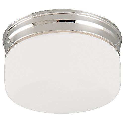 Design House 501965 2 Light Ceiling Light, Polished - Flush Ceiling Light Mount Chrome