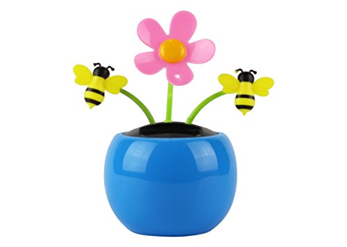 Home-X Solar Dancing Flower with Bumble Bee Toy, Fun, Educational and Eco-Friendly Toy for Kids of All Ages, Compatible with Indoor and Outdoor - Bee Bumble Window