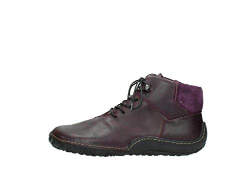 Zapatos black 50600 Dark nbsp;Mokola 08361 Up Lace Wolky Purple comodidad Oiled Leather x7Yfwzqt