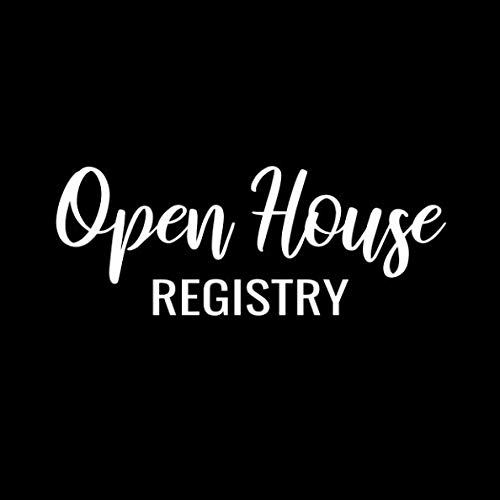 - Open House Registry: Real Estate Agent Visitor Log and Guest Book - Open House Sign In Sheet Registration Journal for Realtors Brokers with Space for ... for Name and Address (Square Size  8.25x8.25)