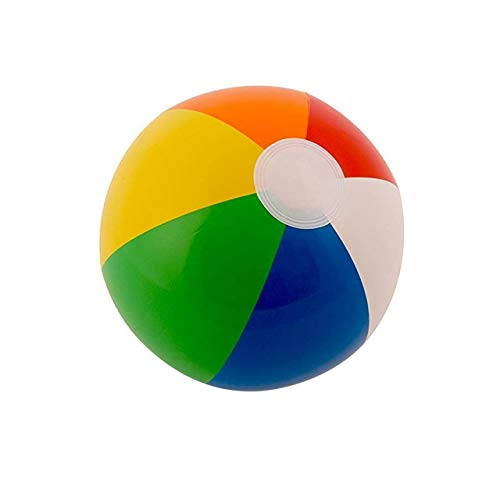 30Cm Color Inflatable Ball Children'S Play Water Polo 6 Color Beach Toy Ball Beach Ball Colorful (Colorful) Jasnyfall