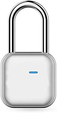 GXWLWXMS スマートワイヤレス南京錠、Bluetoothロックキーレスアプリリモコンロッカー南京錠用スーツケースバックパックバイクロッカー