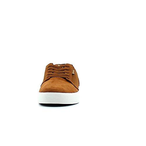 Brown Yorek Supra Size Shoes Grey White Twill Low Mens 5zzq0wxgO