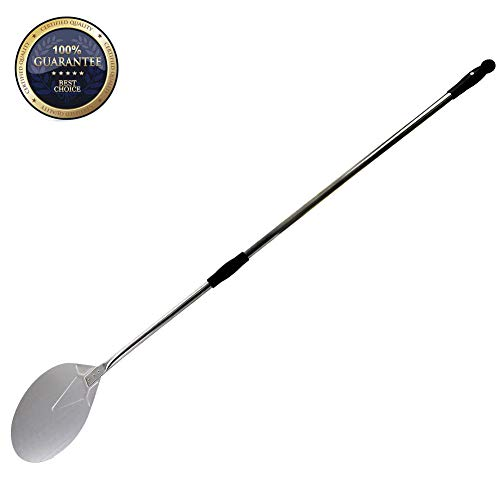 Steel Peel Pizza Stainless - SHANGPEIXUAN 9'' Turning Pizza Peel,Stainless Steel Pizza Paddle with 47 Inch Long Handle