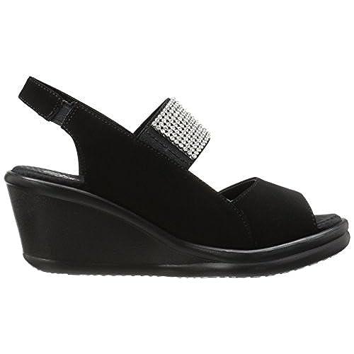 chic Skechers Cali Women's Rumblers Sparkle on Wedge Sandal