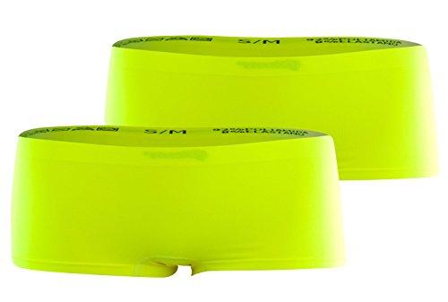 Pack de 2 Bragas boxer deportivas sin costuras para mujeres, diferentes colores amarillo