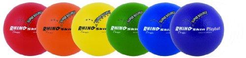 Champion Sports Rhino skin Super Bounce Play ball-Set of 6
