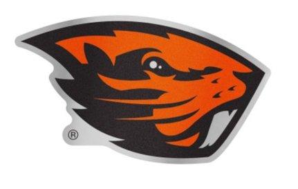 WinCraft NCAA Oregon State University Beavers 4.85'' x 3.5'' Inch Plastic Auto Badge Sticker Decal by WinCraft