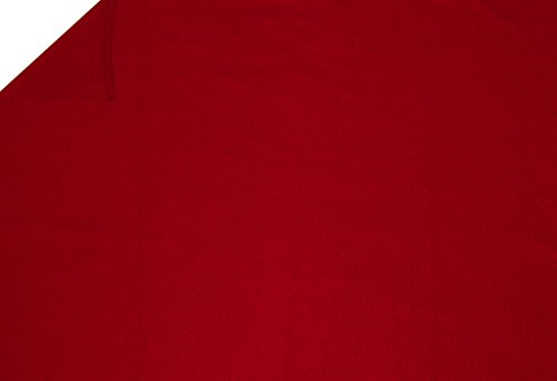 LA Linen Polar Fleece Fabric, 2.5-Yard by 58-Inch, Red