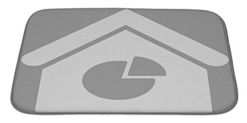 Gear New Bath Rug Mat No Slip Microfiber Memory Foam  Grey Realty Pie Chart Flat Icon  34X21