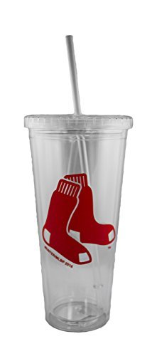 Boston Red Sox 24oz Sip N Go Tumbler with (Sox Plastic Tumblers)