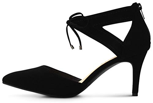 Pointed Toe Low Platform High Heels