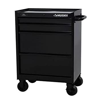 Amazon.com: Husky 27 in. 4-Drawer All Black Tool Cabinet: Health ...