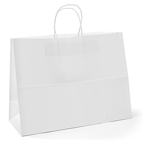 "104aea0cfeb 16 ""x6 ""x12 "" – 25 Pcs – White Kraft Paper Bags"