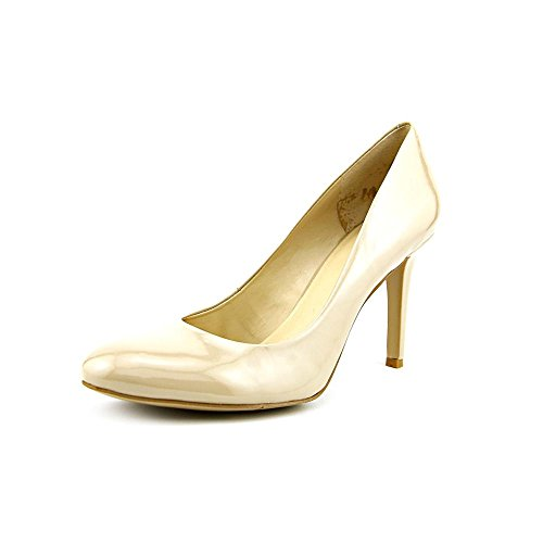 Nine West Caress Womens Size 5 Nude Patent Leather Pumps Heels Shoes