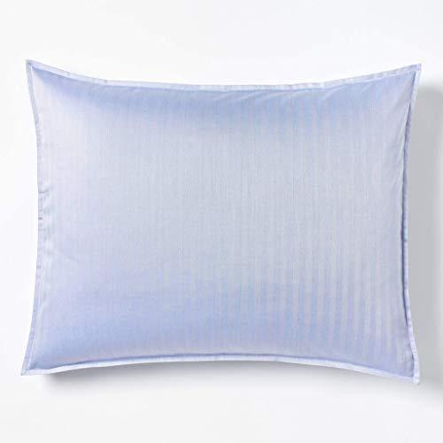 (Robert Graham Home Herringbone Iris 400 Thread Count Italian Percale Woven with Extra-Fine Long Staple Cotton Pillow Sham (King))