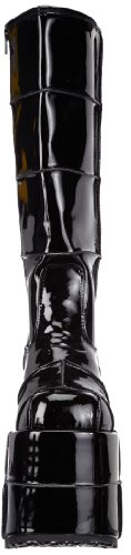 Demonia STACK-301 - Zapatos de tacón para mujer Negro (Blk Pat)