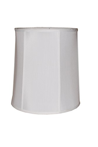"18"" white silk drum lamp shade"