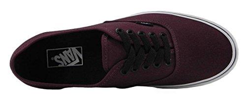Vans Mens Authentic Port Royale Burgundy Red Skate Sneakers Shoes h7pIw2