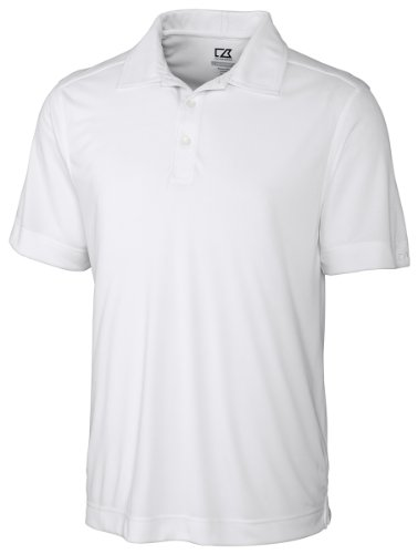 Cutter & Buck Men's Cb Drytec Northgate Polo Shirt, White, X-Large