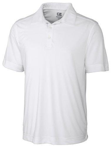 Cutter & Buck Men's Cb Drytec Northgate Polo Shirt, White, X-Large