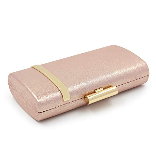 Evening Horizontal Bag Parties Ladies' for Bags Wedding Bright Fashion Iron Brown Clutch Shoulder Pink Box Clubs Single dqETxEv7