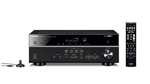 Yamaha RX-V485BL 5.1-Channel 4K Ultra HD AV Receiver with MusicCast - Black (Renewed)