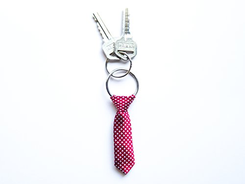 The Pocket Tie Miniature Red Tie Key Chain for Men, Red
