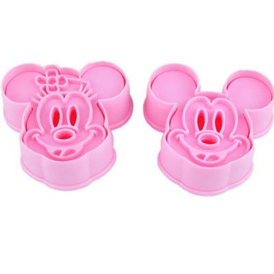Luyou 2pcs Mickey And Minnie Mouse Cartoon Fondant Cake Cookie Biscuit Cutter Mold Mould Tools Set CT027]()