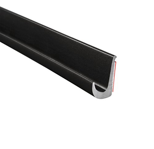 "Trim-Lok Drip Rail - Black, PVC Plastic Rain Gutter for Cars, Vans, and RVs - Installs with Durable 3M Tape - 1/2"" Height, 25' Length"