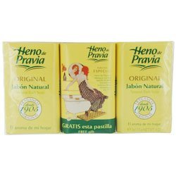 Heno de Pravia Natural Bath Soap 4oz (3 Soaps Total)