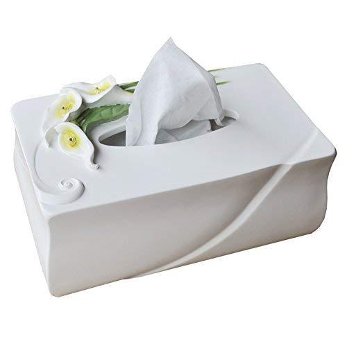 ティッシュボックスホルダーKleenex Napkin Case クリエイティブヨーロッパのファッションかわいいシンプルなリビングルーム家庭用樹脂ティッシュボックスペーパーボックスペーパータオルチューブ(色:グリーン) ティッシュディスペンサー収納オーガナイザースタンドティッシュカバー (色 : White)  White B07RVB1V67