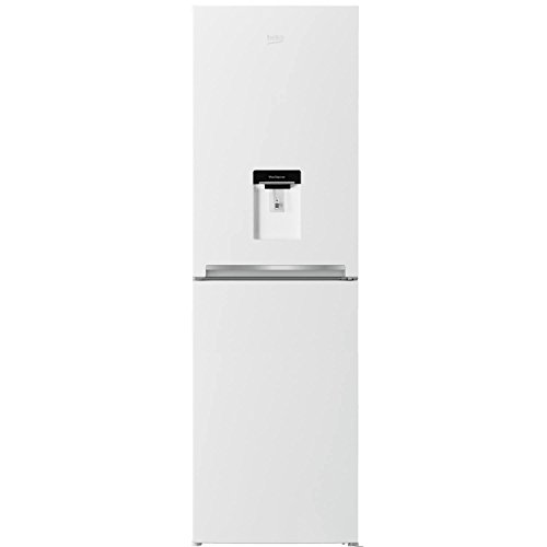 Beko CFG1582DW A+ Frost Free Fridge Freezer with Stored Water Dispenser in White