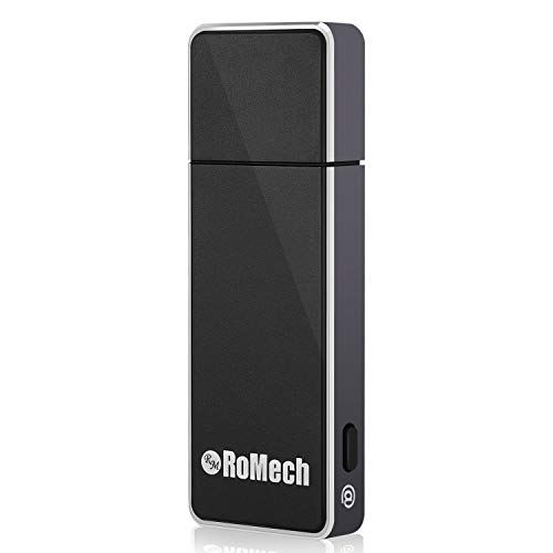 Mini Voice Recorder for Lectures - RoMech 8GB Digital Sound Audio Tape Recording Device, 512 kbps, Dictaphone, USB Rechargeable (Black)