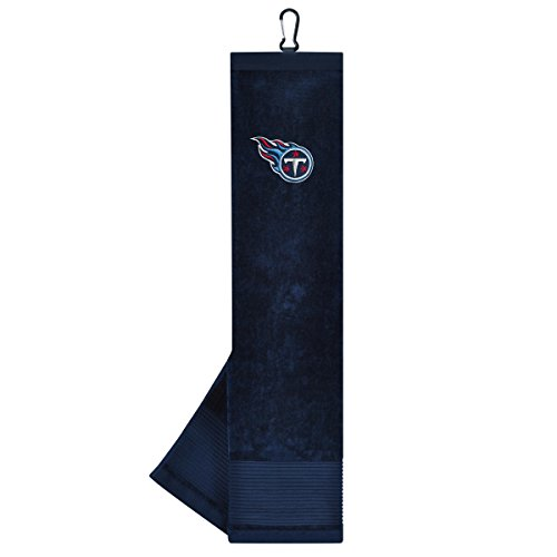 (Team Effort NFL Tennessee Titans Face/Club Tri-Fold Embroidered Towel)