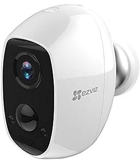Sistema de Seguridad y V/ídeo Vigilancia Audio Bidireccional y Recargable Visi/ón Nocturna Triple Pack con W2D WiFi 2.4GHz 1080p FHD Exterior//Interior EZVIZ C3A C/ámara con Bater/ía