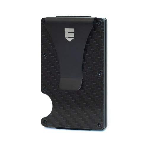 Minimalist Carbon Fiber Mens Wallet, Slim Money Clip, RFID Blocking Slim Wallet, Credit Card Holder for Men & Woman, Money Clip