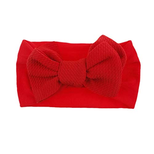 DressU Baby Tie Front Knot Stretch Solid Cozy Bow Hair Wrap Band 2 Pack