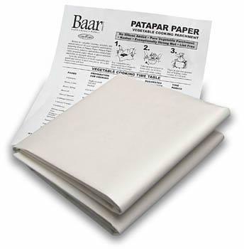 Patapar Paper, Vegetable Cooking Parchment - 24''x24'', 6 Reusable Sheets by Baar