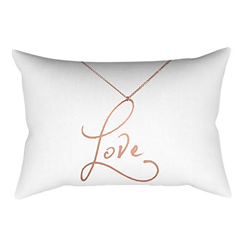 VEFSU Rose Gold Pink Cushion Cover Square Pillowcase Home Decoration Throw Pillowcase (30cm X - Cashmere Pillow Quilted
