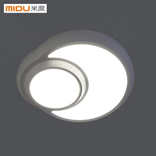 KHSKX Einfache kreative LED-Decke Decke lampe beleuchtung Balkon Mode moderne Kinderzimmer wohnzimmer Beleuchtung Lampen 24W/white/110-220 V