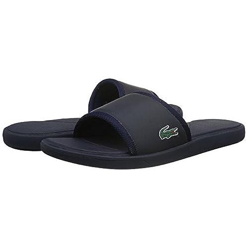 1b8e00491ccbb3 Lacoste Men s L.30 Slide Sport SPM Logo Flip Flops