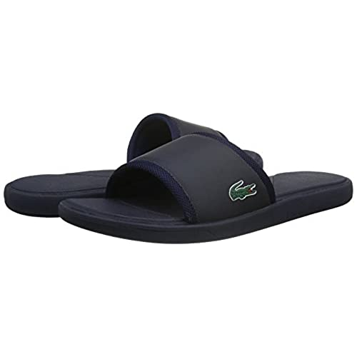 c89ff846b1f0 Lacoste Men s L.30 Slide Sport SPM Logo Flip Flops