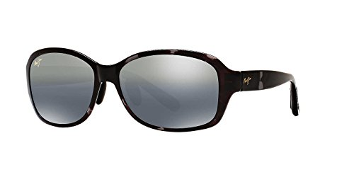 13e2fe9ef8 Maui Jim Womens Koki Beach 56 Sunglasses (433) Black Grey Plastic