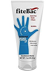 Alcohol Free Hand Sanitizer Germicidal Gel | No Drying Foam | Moisturizers | Advanced Formula | No Active Ingredients Penetrate Skin | 3 oz. Tube by fiteBac SkinCare